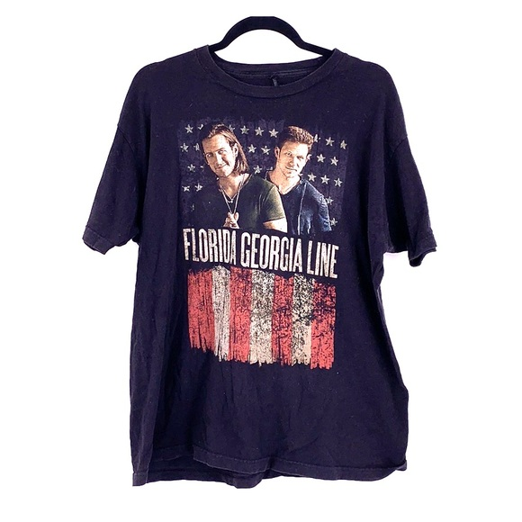 Vintage Tops - Vintage Florida Georgia line tour t shirt large